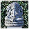 Ganesha tuinbeeld XL donker