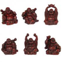 Set rode zittende Boeddha's