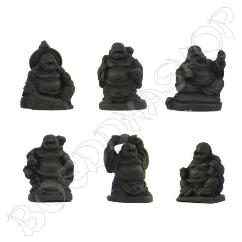 Set mini Boeddha's zwart