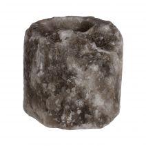 Zwart / grijs Himalayazout theelicht