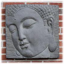 Boeddha wandpaneel donker