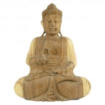 Lichthout Boeddha Vitarka 30cm