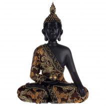 Medicijnboeddha zwart met luxe gewaad