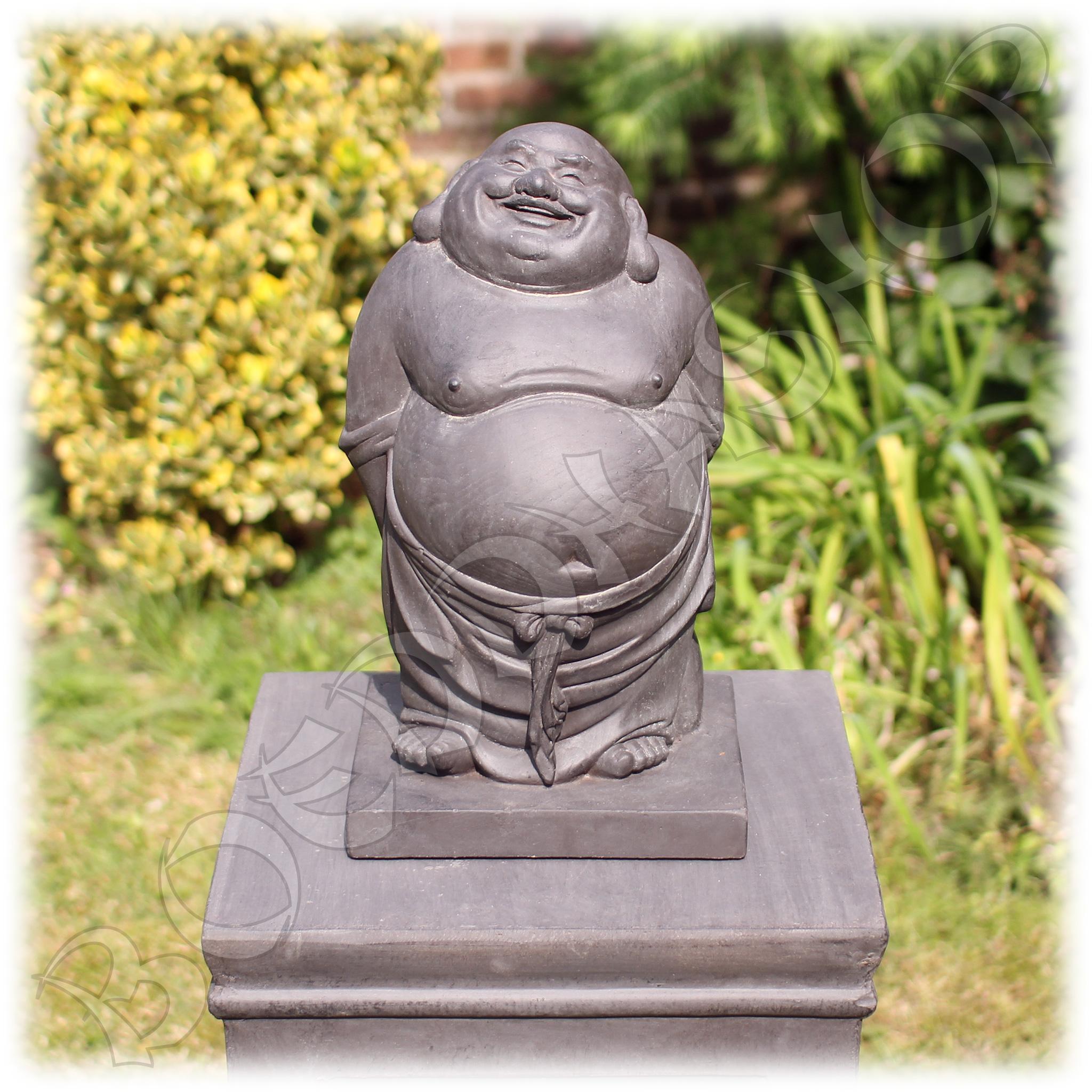 Staande Happy Boeddha donker