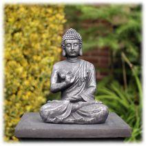 Tuinbeeld Boeddha namaskara zilver S