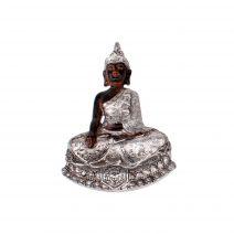 Thaise Boeddha magneet zwart/zilver