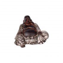 Chinese Boeddha magneet zwart/zilver