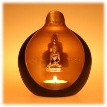 Boeddha in druppel kandelaar