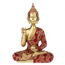 Medicijnboeddha goud met luxe gewaad #2