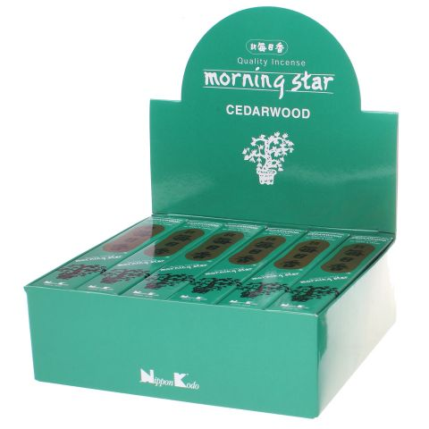 Doos Morning Star Cedarwood wierook, 12x20g