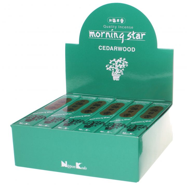Doos Morning Star Cedarwood wierook, 12x20g