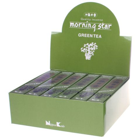 Doos Morning Star Green Tea wierook, 12x20g