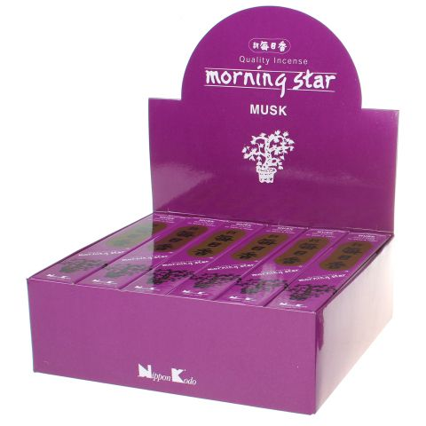 Doos Morning Star Musk wierook, 12x20g