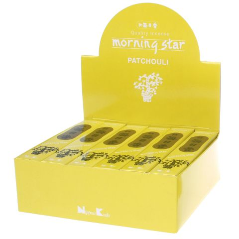 Doos Morning Star Patchouli wierook, 12x20g