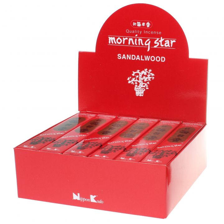 Doos Morning Star Sandalwood wierook, 12x20g