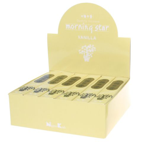Doos Morning Star Vanilla wierook, 12x20g