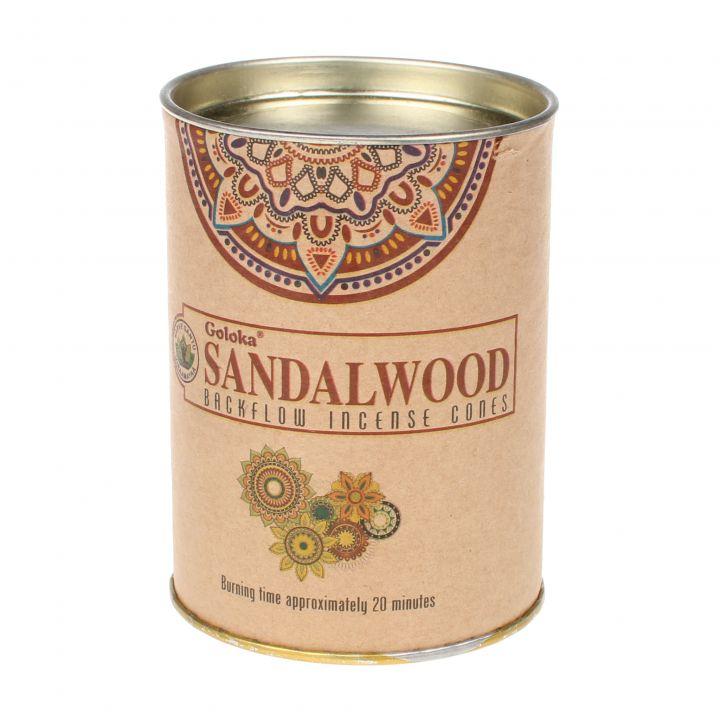 Goloka Sandalwood backflow wierook kegels