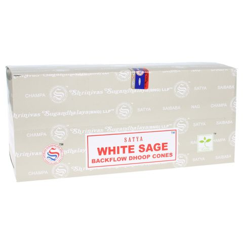 Doos Nag Champa White Sage backflow wierook