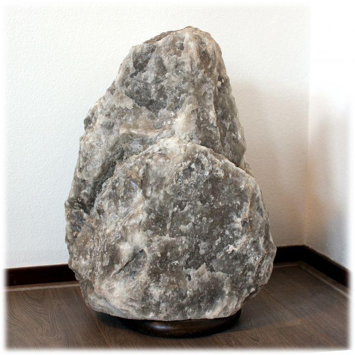 Zwarte / grijze zoutlamp 60 kg
