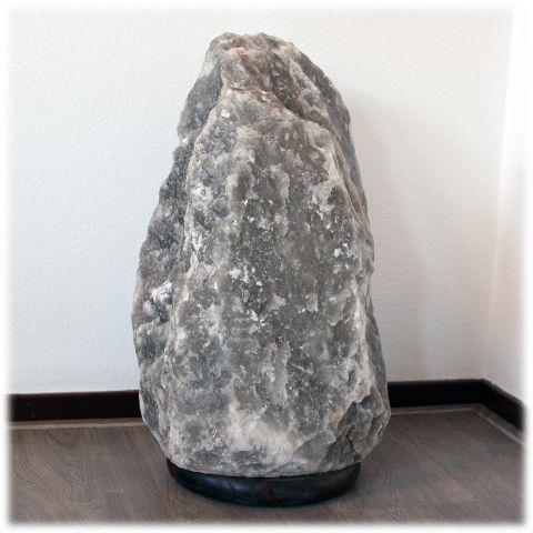 Zwarte / grijze zoutlamp 47 kg