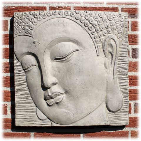 Boeddha wandpaneel licht