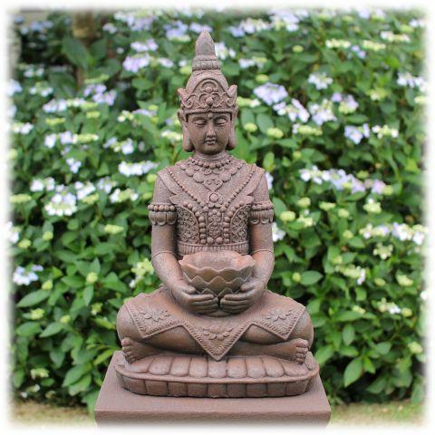 Boeddha met lotusschaal rustiek