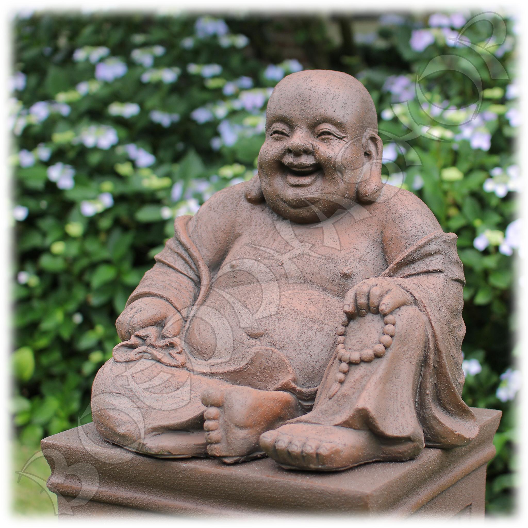 Tuinbeeld Happy Boeddha L rustiek