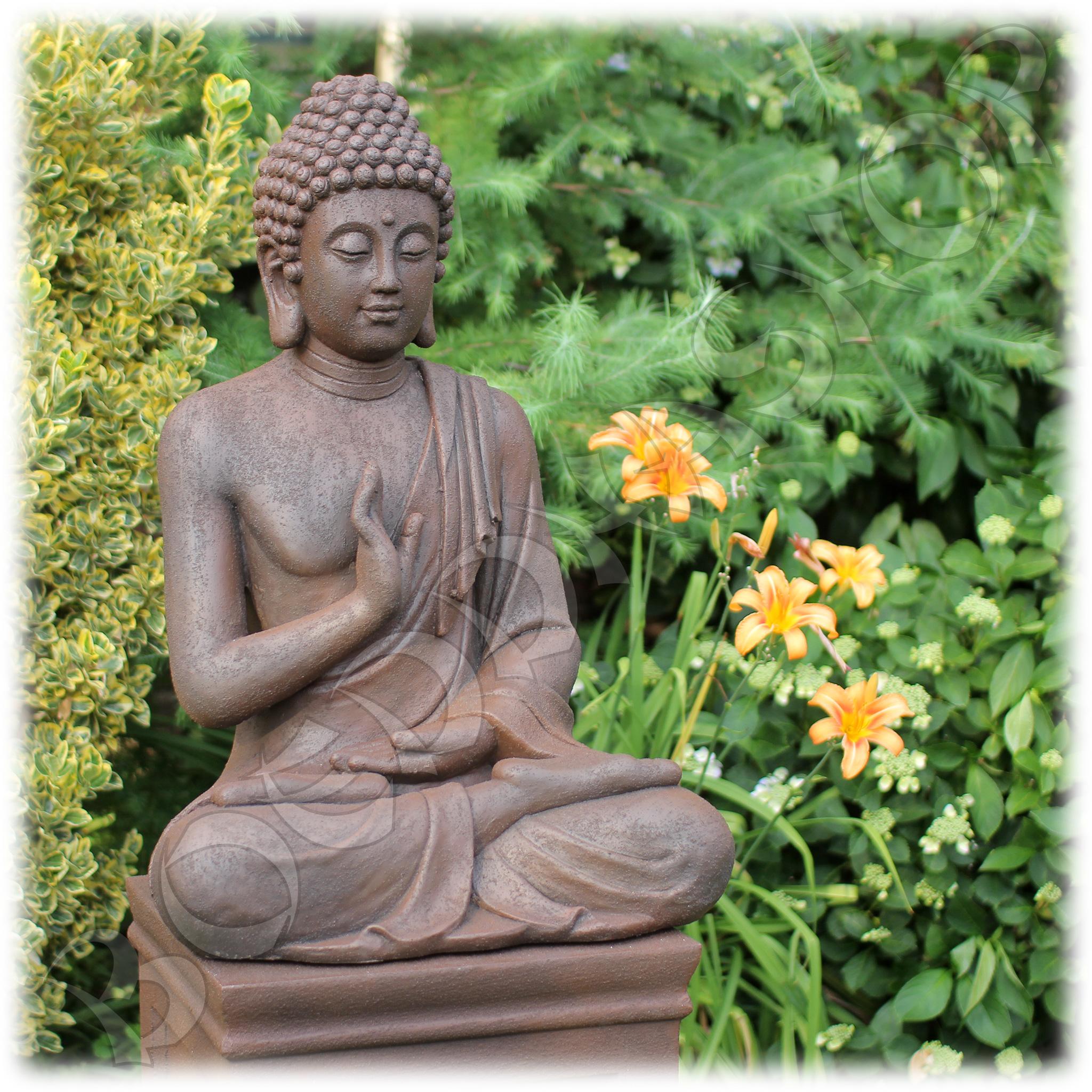 Tuinbeeld Boeddha namaskara rustiek XL