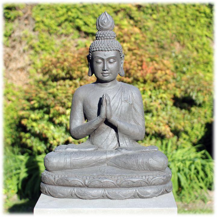 Tuinbeeld Thaise Boeddha XL donker