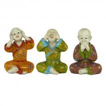 Set gekleurde monniken