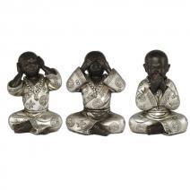 Set monniken zwart / zilver