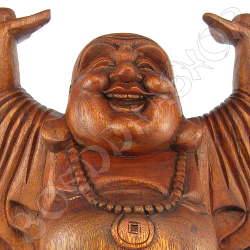 Groot staand houten Boeddhabeeld