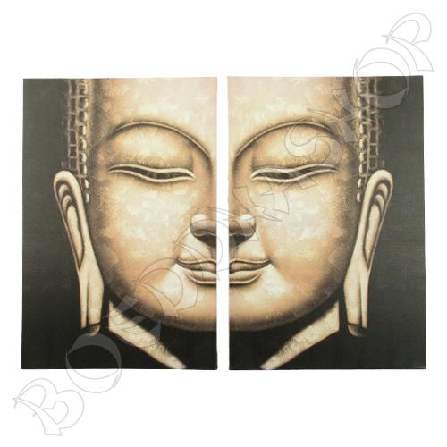 Boeddha schilderij #1 tweeluik
