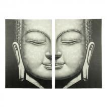 Boeddha schilderij #2 tweeluik