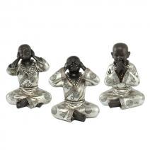 Set XL monniken zwart/zilver