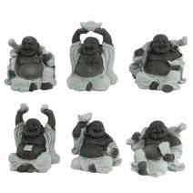 Set zittende Boeddha's hematiet