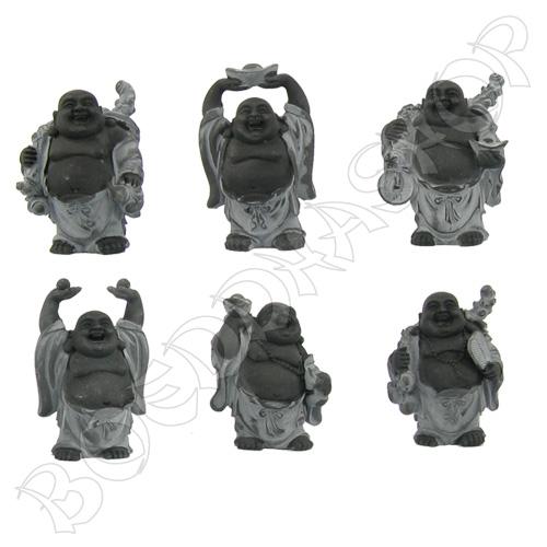 Set staande Boeddha's hematiet
