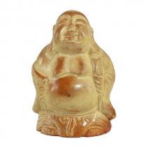 Keramiek Happy Boeddha geel #6