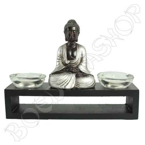Indische Boeddha 2 waxinelichten