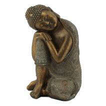 Slapende Indische Boeddha bronslook