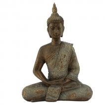 Thaise meditatie Boeddha bronslook