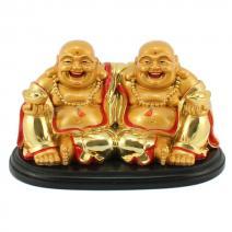 Vriendschaps Boeddha goud groot