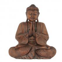 Houten Boeddha namaskara 30cm