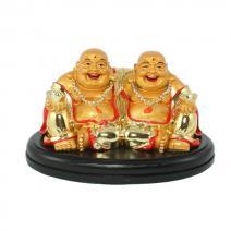 Vriendschaps Boeddha goud klein