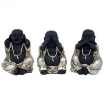 Happy Boeddha HZZ zwart/zilver middel
