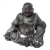 Happy Boeddha zwart/zilver gedecoreerde jas