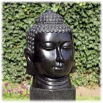 Tuinbeeld Boeddha hoofd terrazzo groot