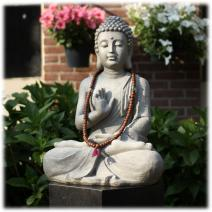 Tuinbeeld Boeddha namaskara licht