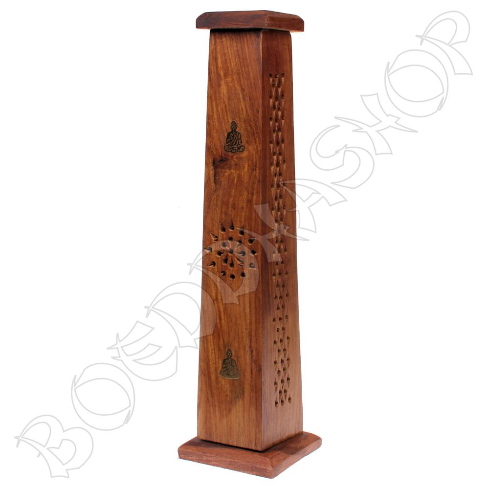 Wierooktoren Boeddha hout