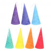 Set van 7 Chakra kaarsen in kegelvorm